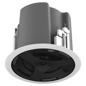 "Picture of 6.5"" Coaxial In-Ceiling Speaker with 32-Watt 70V/100V Transformer, Ported Enclosure, and Safety First Mounting System (UL Certified)"
