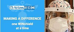 AtlasIED Manufactures and Donates 26,000 PPE Face Shields Across the U.S.