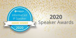 AtlasIED Wins Two IP Speaker Awards from Singlewire for Best Classroom IP Speaker and Best Two-Sided IP Speaker