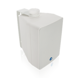 "Picture of EN54-24 Certified 4"" 2-Way All Weather Speaker with 16-Watt 70V/100V Transformer - White"