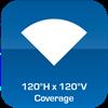 120°H x 120°V Coverage