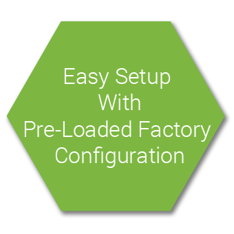 Easy Adoption with Pre-Loaded Factory Templates