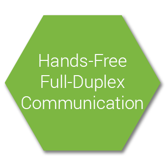 Hands-Free, Full-Duplex Communication