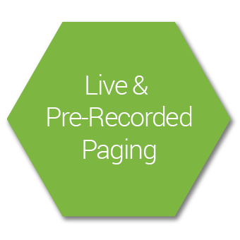 Live & Pre-Recorded Paging