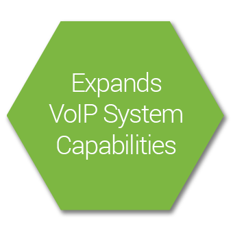 Expands VoIP capability