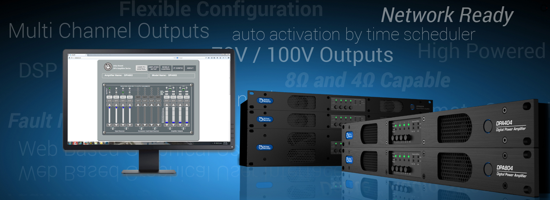 Multi-Channel, Network Enabled Amplifiers with Integrated Digital